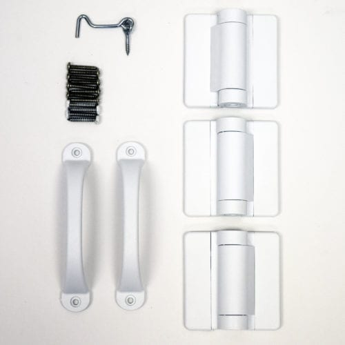 White Screen Door Hardware