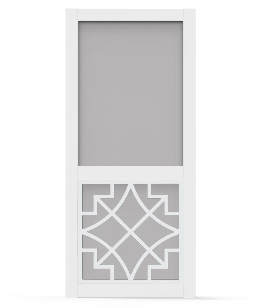 Belle White Vinyl Screen Door Screen Porch Living