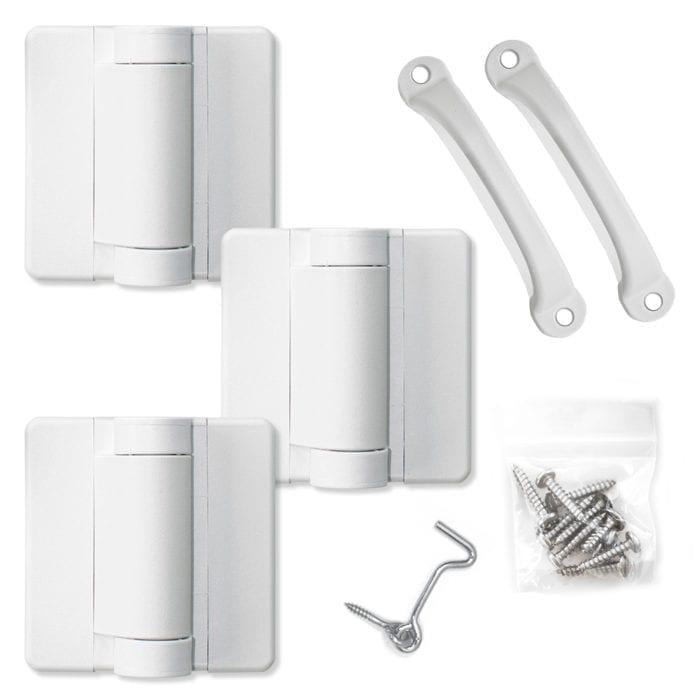 White Screen Door Hardware