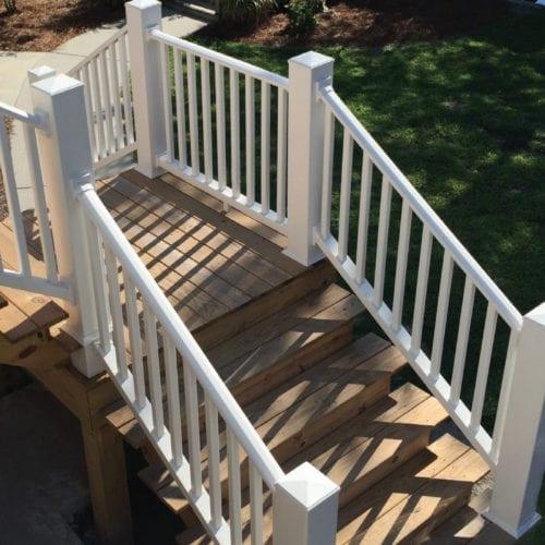 Stair Railing Kit Installed