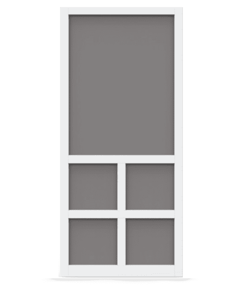 Lafayette White Vinyl Screen Door