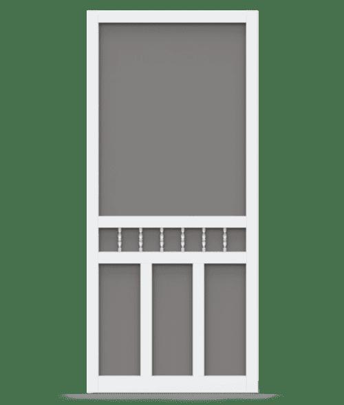 Waccamaw White Vinyl Screen Door