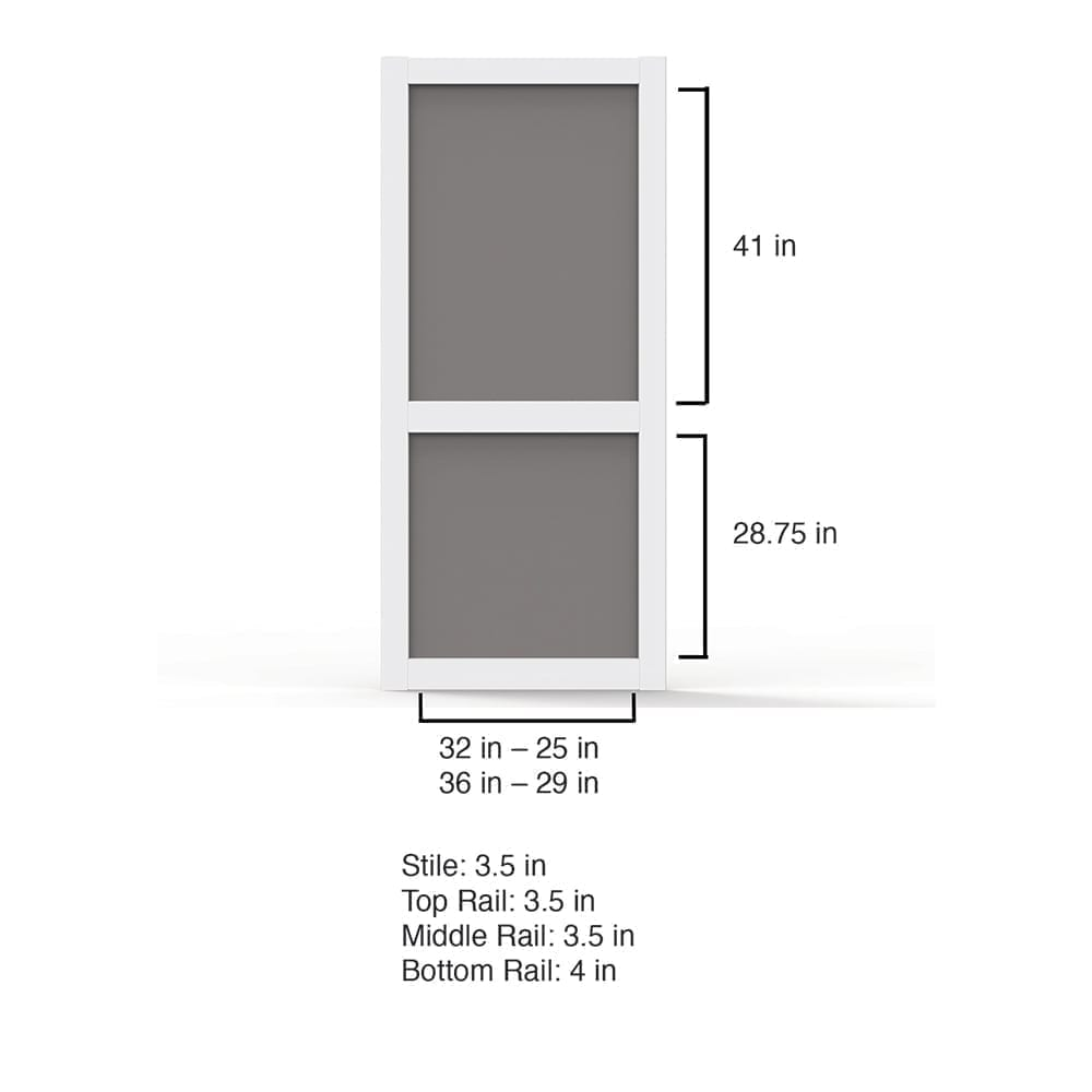 Screen Door Dimensions