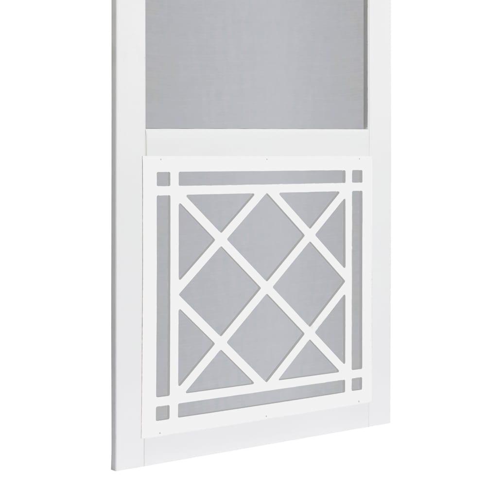 St Augustine Solid Vinyl Screen Door With White