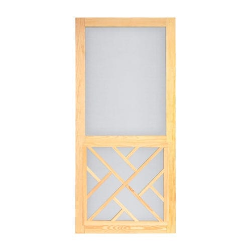 Wood Chippendale Screen Door