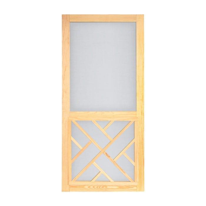 Wood Chippendale Screen Door