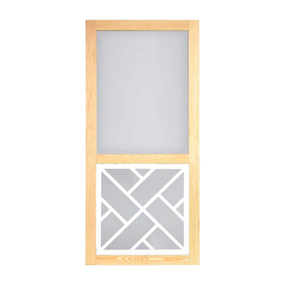 Chippendale Wood Screen Door